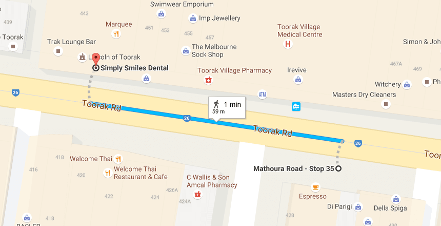From Mathoura Road Stop 35 to Simply Smiles Dental Dentist TooraK
