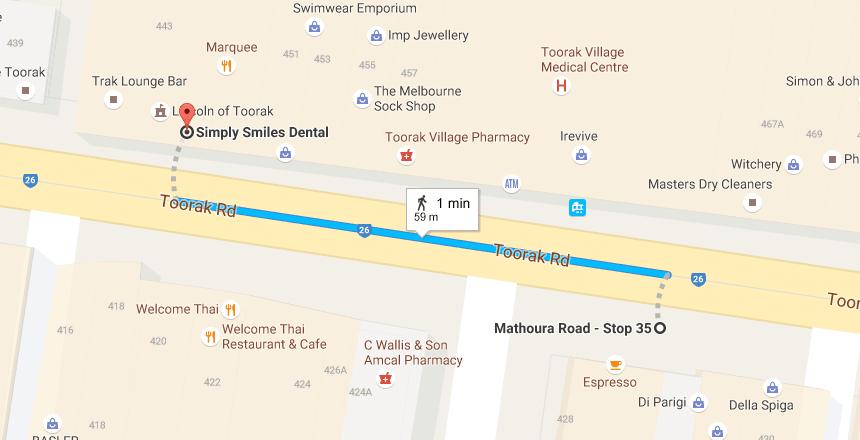 From Mathoura Road Stop 35 to Simply Smiles Dental Dentist TooraK